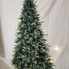 クリスマスツリー タペストリー 150×100cm 場所を取らないクリスマスツリー タペストリーツリー もみの木・星バージョンも(タペストリー)を使ったクチコミ「今年もクリスマスタペストリー✨ 電球は縫…」(1枚目)