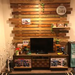 DIY/カルフォルニアインテリア/テレビ台diy/テレビボードDIY/家具 サイズなど気に入ったものが見つからないか…