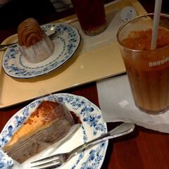 パリパリミルクレープ/ドトールコーヒー/おやつ 通院後、娘と2人で遅めのおやつタイムです…
