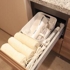 ホワイト/モノトーン/シンプルライフ/ミニマルライフ/ミニマリスト/持たない暮らし/... 【洗面所収納】 我が家の洗面所でのゴール…