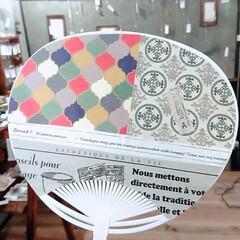 手作りうちわ/うちわ/ドライフラワー/雑貨/LIMIA手作りし隊/ハンドメイド/... 手作りうちわ 紙コップ、布、マスキングテ…(2枚目)