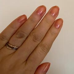 スイート10ダイヤモンド/結婚指輪/上に違う色を重ねるといいのかな/控えめでいい感じ/ネイルファンデーション/リング/... ネイルとリング☆  ネイルファンデーショ…