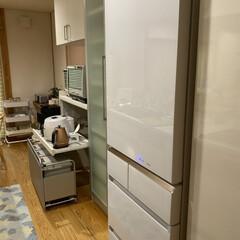 基本白が大好き/グレーのゴミ箱セット/ワゴンタイプ/おススメ/キッチン/キッチンツール/... キッチン☆  おススメのキッチンアイテム…