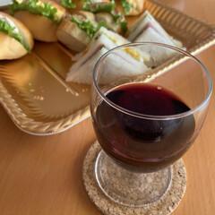 イタリア赤ワイン/サンドイッチ/メリークリスマス/お昼から/旦那が今日はお休み/ワインで乾杯 ワインで乾杯☆  旦那が今日はお休み♪ …(3枚目)