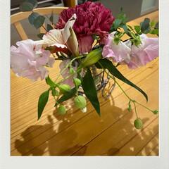 お返し/ロールケーキ/初めて見る花/買ってもらった/ホワイトデー/1日早い/... ミニブーケ☆  1日早いですが… ホワイ…
