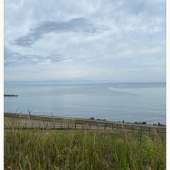 ステキ/夕景がキレイ/佐渡ヶ島が見えた/散歩/県内を少しだけ遠出/久々/... 友だちと海の近くへ☆  久々に県内を少し…(2枚目)
