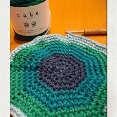 ケーク/楽しい/色が変わる/早速/ケーキみたいな可愛い毛糸/セリア/... 今日も編みあみ☆  手芸屋さんのトーカイ…