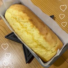手づくり/デザート/いい夫婦の日/チーズ風味で焼いてみた/クリームチーズが足りない(笑)/チーズ風パウンドケーキ/... チーズ風パウンドケーキ☆  クリームチー…