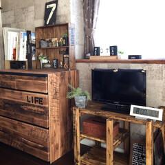 テレビボード/DIY/リノベーション/部屋作り(部屋づくり)/男前インテリア/diy201604/...
