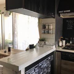 カウンターdiy/ダイソー/DIY/キッチン おはようございます*:.*.:*:。∞︎…