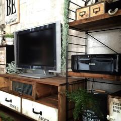 テレビボード/リビング/男前インテリア テレビボード引き出しの取っ手変えました