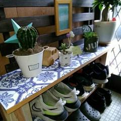 靴の収納 玄関の雰囲気変えたくて。