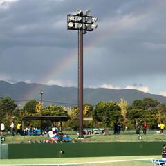 虹/秋/空/おでかけ 虹が綺麗でした🌈