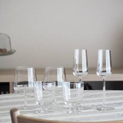 グラス/食器/ittala/ダイニングテーブル/インテリア 少しずつ集まってきたiittalaのグラ…