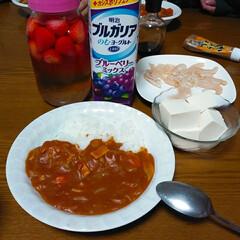 ハヤシライス/イチゴ酢/フード/スイーツ 先週作ったイチゴのビネガー そのまま放置…
