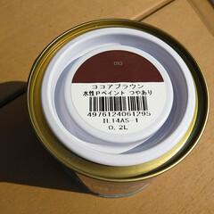 わたしのごはん/フード/スイーツ/DIY 手作りのベンチにペンキを塗りました。 塗…(3枚目)