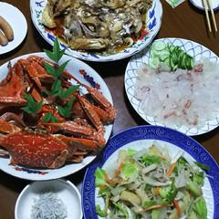 蟹/食欲旺盛/グルメ/フード/スイーツ 今日は体調がすぐれず、先週から体調崩して…(1枚目)