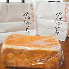 晴れ/生食パン/フード/乃が美/高級 久々の天気☀️✨ 朝から並んでゲット👍 …