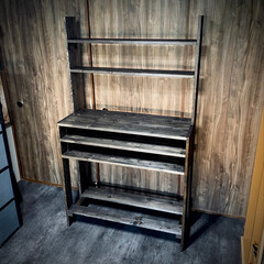 ビンテージ/vintage/ビンテージワックス/収納棚/棚作り/ニッペホーム/... 1×4材と1×6材で棚作り🛠 ビンテージ…