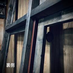 すのこ/スノコ/スライド開閉/二重窓/換気/ポリカーボネート/... 窓枠DIY😃 ポリカーボネートの窓(左側…(4枚目)