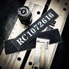 ステンシル/引き戸/ブラック/ターナー色彩/アイアンペイント/ルームナンバー/... 引き戸に付ける ルームナンバープレート作…