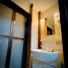 整理整頓/洗面所DIY/木目/vintage/塗装/アジャスター/... またもやお久しぶり🤗 洗面所にラブリコを…