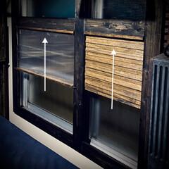 すのこ/スノコ/スライド開閉/二重窓/換気/ポリカーボネート/... 窓枠DIY😃 ポリカーボネートの窓(左側…(2枚目)