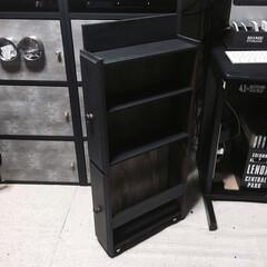 spr20xx/smilemind/SPR/収納ワゴン/デッドスペース/収納ボックス/... キャスター付きワゴンの内側。 上2段には…