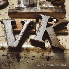 男前インテリア/男前/キャンドゥ/アルファベット文字/ウォールナット/塗装/... 傷だらけのアルファベット。  木製アルフ…