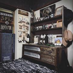 ディスプレイ収納/男前インテリア/smilemind/DIY/塗装/エボニーブラック/... 1×4材と1×6材で作った棚DIY。 放…