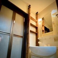 LABRICO(ラブリコ) 2×4材用アジャスター ブロンズ DXB-1 ツーバイフォー材 パーツ 0 | 平安伸銅工業(その他建築金具)を使ったクチコミ「洗面所にラブリコ😊 棚を3段付けました。…」