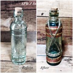 ボトル/汚し塗装/キャンドゥ/smilemind/SPR/パイレーツオブカリビアン風 グラスに続いてキャンドゥのミニボトルを塗…