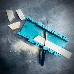 ソーガイド/台形切り/カット/便利ツール/引き戸DIY/引き戸/... 90° 45° 22.5° の3つの角度…