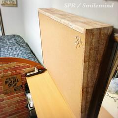 コルクボード/smilemind/SPR/マスキングテープ/カラーボックス/mtCASAマスキングテープ/... コルクボードに板材を付けてmtCASAマ…
