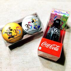 ゴーフル/ディズニーデート/一泊旅行/35周年/ディズニーランドのお土産/ディズニーランド/... ディズニーランドで買ったコカコーラを い…