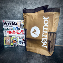 背負える保冷バッグ/買い物に便利/壁紙屋本舗/雑誌/Marmot/マーモット/... MonoMax 2020.8月号を買って…(1枚目)