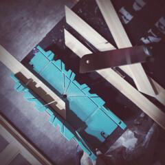 即日出荷 SK11 マイターボックス 2×4材用 鋸切断ガイド | SK11(その他のこぎり)を使ったクチコミ「ソーガイドがあるとやっぱり楽‼️ 45度…」
