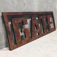 汚し塗装/赤錆/タカラ塗料/アルファベットオブジェ/アルファベット/木製アルファベットオブジェ/... 【記録用】  木製アルファベットオブジェ…