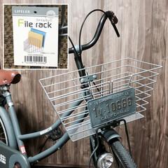チャリ/塗装/男前/自転車リメイク/ダイソー ナンバープレート/ナンバープレート/... 【記録用】After  自転車のカゴは正…