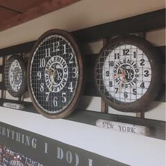男前インテリア/アイデア/作り方/ダイソー 掛け時計/ダイソー 時計/掛け時計リメイク/... 焼き網使った掛け時計 第2弾。  小さめ…