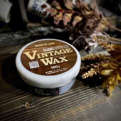 ビンテージワックス エボニーブラック [160g] ヴィンテージワックス vintagewax 蜜蝋 着色 えごま 木製品 ブライワックス | ニッペホームオンライン(ペンキ、塗料)を使ったクチコミ「VINTAGE WAX エボニーブラック…」(1枚目)