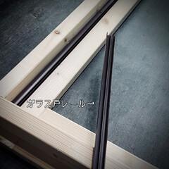 すのこ/スノコ/スライド開閉/二重窓/換気/ポリカーボネート/... 窓枠DIY😃 ポリカーボネートの窓(左側…(6枚目)