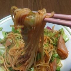 スパゲッティ/おうちごはん ごちそうさま。 お昼ごはんみたいな晩ごは…