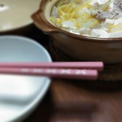 鍋/冬/おうちごはん/フード 今日はひとりなべ。 鍋キューブ買ってみた…