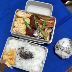 節約弁当/フード/お弁当記録/夫弁当/お弁当って大変 おっさんず弁当。 ふつうの。 (*^^*)