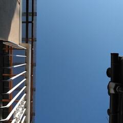 空/風景 んーーー。 青い青い青い空。 10︰34…(1枚目)