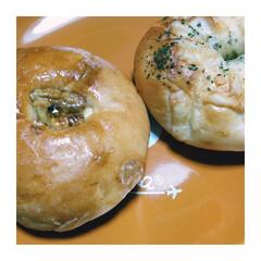 パン/ごはん/フード 今日の一枚。 パンふたつ。 パンが好き。