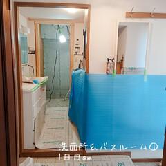洗面所リフォーム/バスルームリフォーム/ナチュラルが好き/リフォーム バスルーム&キッチン&リビング リフォー…
