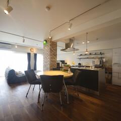 LIXIL/リクシル/カフェ風インテリア/カフェ風キッチン/カフェ風リノベーション/カフェ風コーディネート/... ♪LDKの施工事例♪⠀ ダイニングからリ…