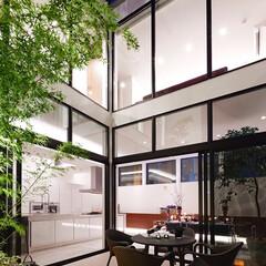 LIXIL/リクシル/サッシ/窓/大きな窓/大開口/... ♪ガーデンスペースの施工事例♪⠀ 中庭か…